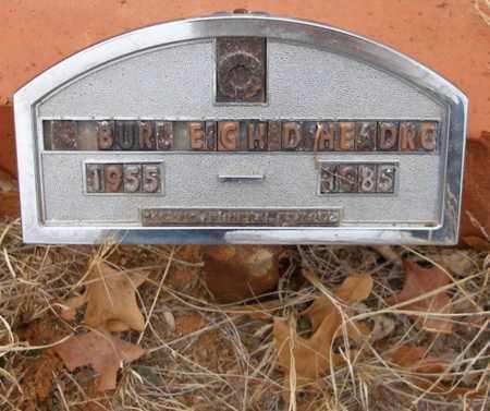 HEADRICK, BURLEIGH D - Caddo County, Oklahoma   BURLEIGH D HEADRICK - Oklahoma Gravestone Photos