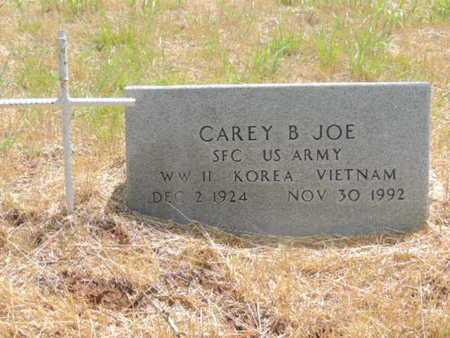 JOE (VETERAN (3WARS), CAREY B - Caddo County, Oklahoma | CAREY B JOE (VETERAN (3WARS) - Oklahoma Gravestone Photos