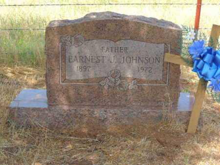 JOHNSON, EARNEST J - Caddo County, Oklahoma | EARNEST J JOHNSON - Oklahoma Gravestone Photos