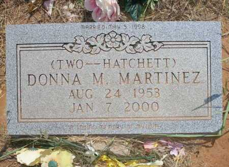 TWO HACHETT MARTINEZ, DONNA M - Caddo County, Oklahoma | DONNA M TWO HACHETT MARTINEZ - Oklahoma Gravestone Photos