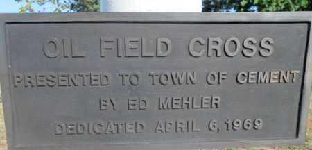 *MEMORIAL PLAQUE,  - Caddo County, Oklahoma |  *MEMORIAL PLAQUE - Oklahoma Gravestone Photos
