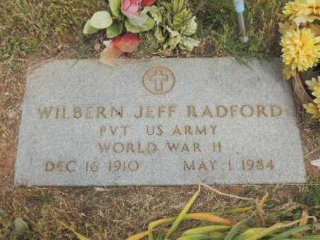 RADFORD (VETERAN WWII), WILBERN JEFF - Caddo County, Oklahoma | WILBERN JEFF RADFORD (VETERAN WWII) - Oklahoma Gravestone Photos