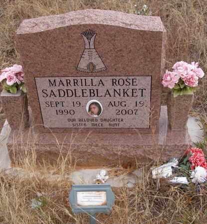 SADDLEBLANKET, MARRILLA ROSE - Caddo County, Oklahoma   MARRILLA ROSE SADDLEBLANKET - Oklahoma Gravestone Photos
