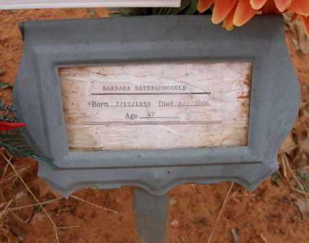 SATEPAUHOODLE, BARBARA - Caddo County, Oklahoma   BARBARA SATEPAUHOODLE - Oklahoma Gravestone Photos