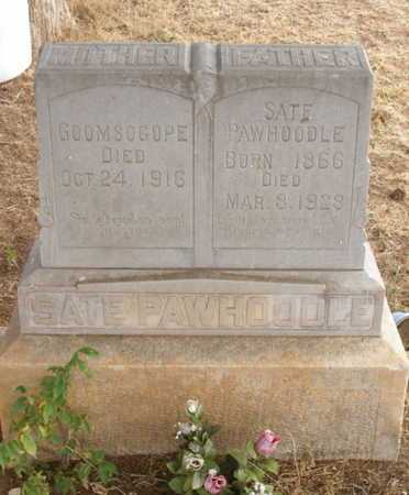 SATE PAWHOODLE, GOOMSOGOPE - Caddo County, Oklahoma | GOOMSOGOPE SATE PAWHOODLE - Oklahoma Gravestone Photos