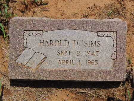 SIMS, HOWARD D - Caddo County, Oklahoma | HOWARD D SIMS - Oklahoma Gravestone Photos
