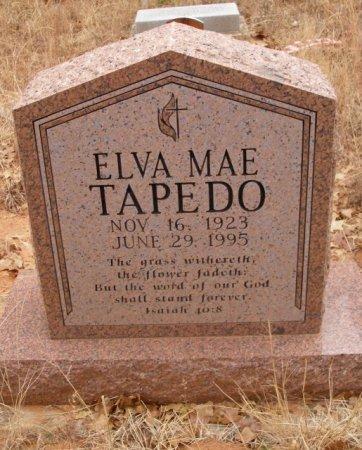TAPEDO, ELVA MAE - Caddo County, Oklahoma   ELVA MAE TAPEDO - Oklahoma Gravestone Photos