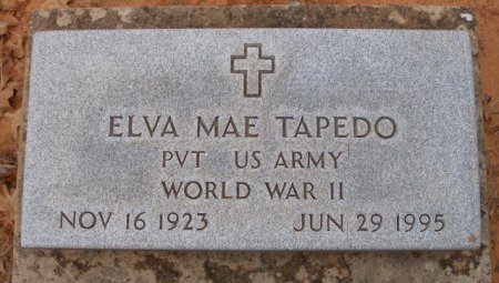 TAPEDO (VETERAN WWII), ELVA MAE - Caddo County, Oklahoma   ELVA MAE TAPEDO (VETERAN WWII) - Oklahoma Gravestone Photos