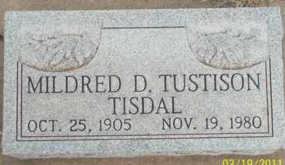 TISDAL, MILDRED D. - Caddo County, Oklahoma | MILDRED D. TISDAL - Oklahoma Gravestone Photos