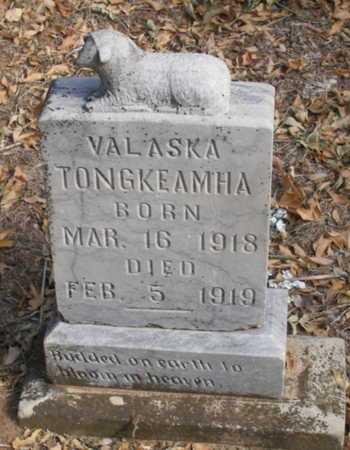TONGKEAMHA, VALASKA - Caddo County, Oklahoma | VALASKA TONGKEAMHA - Oklahoma Gravestone Photos