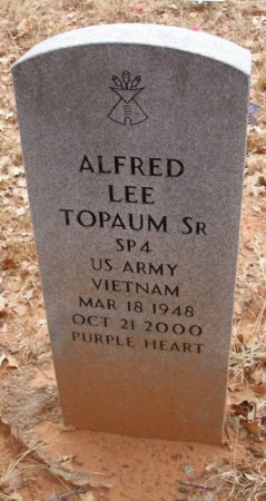 TOPAUM SR (VIETNAM VET), ALFRED LEE - Caddo County, Oklahoma | ALFRED LEE TOPAUM SR (VIETNAM VET) - Oklahoma Gravestone Photos