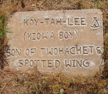 TWOHATCHET, KOY TAH LEE - Caddo County, Oklahoma   KOY TAH LEE TWOHATCHET - Oklahoma Gravestone Photos