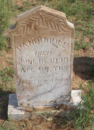 UNKNOWN, PANQUODLE - Caddo County, Oklahoma | PANQUODLE UNKNOWN - Oklahoma Gravestone Photos