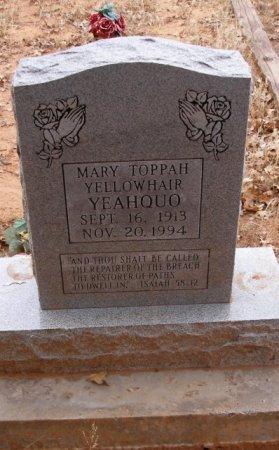 YELLOWHAIR YEAHQUO, MARY TOPPAH - Caddo County, Oklahoma | MARY TOPPAH YELLOWHAIR YEAHQUO - Oklahoma Gravestone Photos