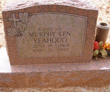YEAHQUO, MURPHY LEN - Caddo County, Oklahoma | MURPHY LEN YEAHQUO - Oklahoma Gravestone Photos