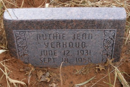 YEAHQUO, RUTHIE JEAN - Caddo County, Oklahoma | RUTHIE JEAN YEAHQUO - Oklahoma Gravestone Photos