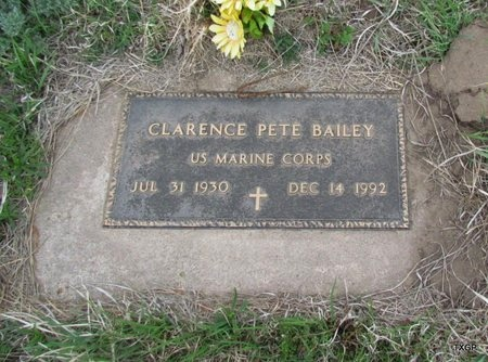 BAILEY (VETERAN), CLARENCE PETE - Canadian County, Oklahoma | CLARENCE PETE BAILEY (VETERAN) - Oklahoma Gravestone Photos