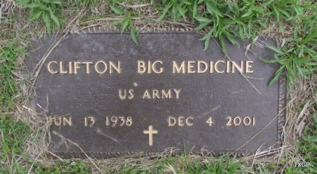 BIG MEDICINE (VETERAN), CLIFTON - Canadian County, Oklahoma | CLIFTON BIG MEDICINE (VETERAN) - Oklahoma Gravestone Photos