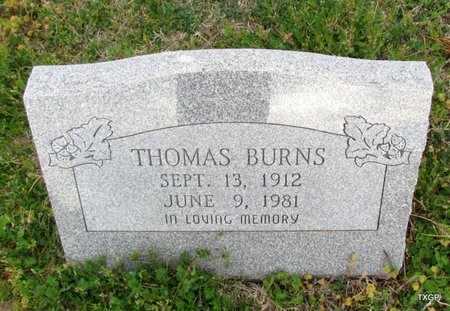 BURNS, THOMAS - Canadian County, Oklahoma   THOMAS BURNS - Oklahoma Gravestone Photos
