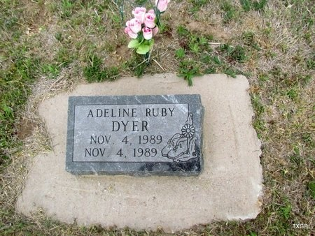 DYER, ADELINE RUBY - Canadian County, Oklahoma | ADELINE RUBY DYER - Oklahoma Gravestone Photos