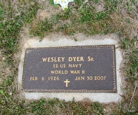DYER, SR (VETERAN WWII), WESLEY - Canadian County, Oklahoma | WESLEY DYER, SR (VETERAN WWII) - Oklahoma Gravestone Photos