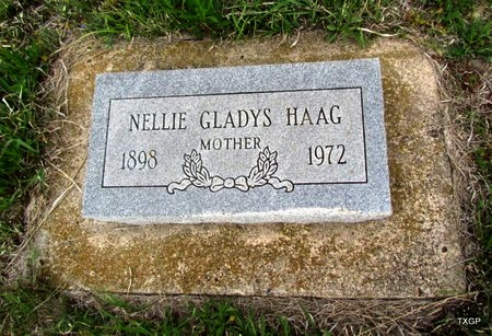 HAAG, NELLIE GLADYS - Canadian County, Oklahoma | NELLIE GLADYS HAAG - Oklahoma Gravestone Photos