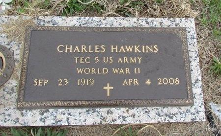 HAWKINS (VETERAN WWII), CHARLES - Canadian County, Oklahoma   CHARLES HAWKINS (VETERAN WWII) - Oklahoma Gravestone Photos