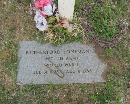 LONEMAN, RUTHERFORD - Canadian County, Oklahoma | RUTHERFORD LONEMAN - Oklahoma Gravestone Photos