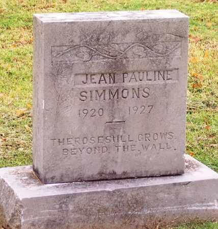 SIMMONS, JEAN PAULINE - Canadian County, Oklahoma   JEAN PAULINE SIMMONS - Oklahoma Gravestone Photos