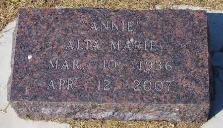 STINE, ALTA MARIE - Canadian County, Oklahoma | ALTA MARIE STINE - Oklahoma Gravestone Photos