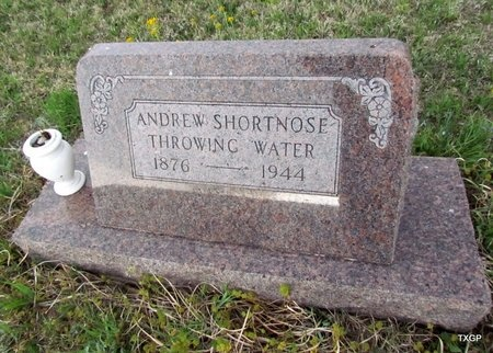 THROWINGWATER, ANDREW SHORTNOSE - Canadian County, Oklahoma | ANDREW SHORTNOSE THROWINGWATER - Oklahoma Gravestone Photos