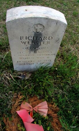 WEBSTER (VETERAN WWII), RICHARD - Canadian County, Oklahoma | RICHARD WEBSTER (VETERAN WWII) - Oklahoma Gravestone Photos