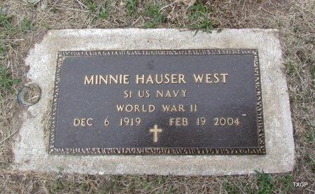 HAUSER WEST (VETERAN WWLL), MINNIE - Canadian County, Oklahoma | MINNIE HAUSER WEST (VETERAN WWLL) - Oklahoma Gravestone Photos