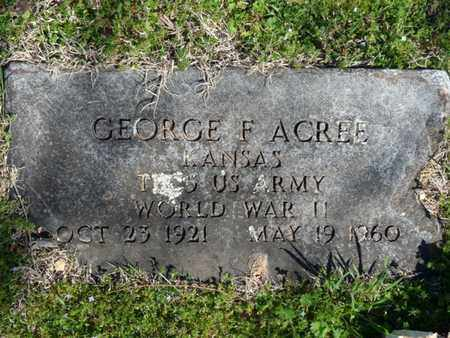 ACREE (VETERAN WWII), GEORGE F - Cherokee County, Oklahoma | GEORGE F ACREE (VETERAN WWII) - Oklahoma Gravestone Photos