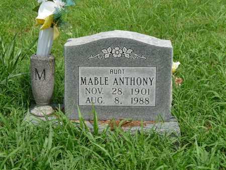 ANTHONY, MABLE - Cherokee County, Oklahoma | MABLE ANTHONY - Oklahoma Gravestone Photos