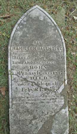 BALENTINE, REV ALEXANDER HAMILTON (ORIGINAL) - Cherokee County, Oklahoma | REV ALEXANDER HAMILTON (ORIGINAL) BALENTINE - Oklahoma Gravestone Photos
