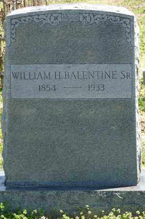BALENTINE SR., WILLIAM H - Cherokee County, Oklahoma | WILLIAM H BALENTINE SR. - Oklahoma Gravestone Photos