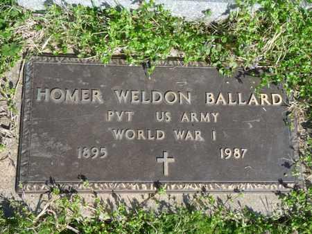 BALLARD (VETERAN WWI), HOMER WELDON - Cherokee County, Oklahoma | HOMER WELDON BALLARD (VETERAN WWI) - Oklahoma Gravestone Photos