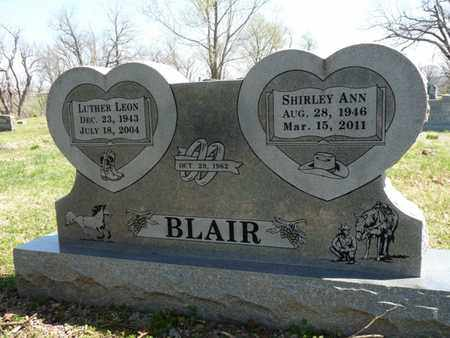 BLAIR, LUTHER LEON - Cherokee County, Oklahoma | LUTHER LEON BLAIR - Oklahoma Gravestone Photos