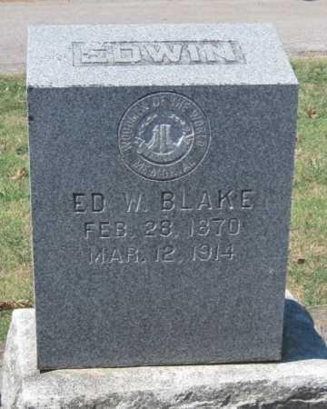"BLAKE, M.D., WILLIAM EDWIN ""ED"" - Cherokee County, Oklahoma | WILLIAM EDWIN ""ED"" BLAKE, M.D. - Oklahoma Gravestone Photos"