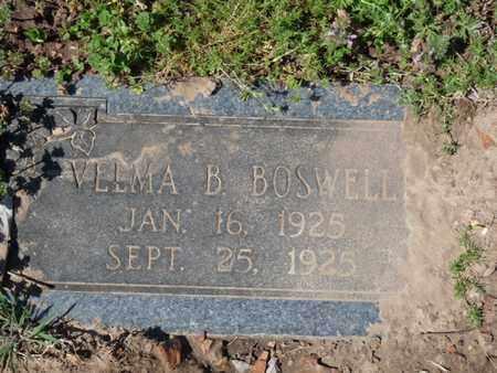 BOSWELL, VELMA B - Cherokee County, Oklahoma | VELMA B BOSWELL - Oklahoma Gravestone Photos