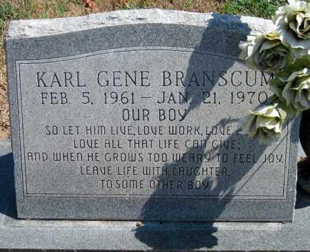 BRANSCUM, KARL GENE - Cherokee County, Oklahoma   KARL GENE BRANSCUM - Oklahoma Gravestone Photos