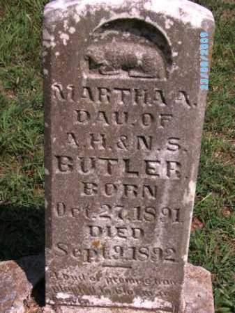 BUTLER, MARTHA A - Cherokee County, Oklahoma | MARTHA A BUTLER - Oklahoma Gravestone Photos