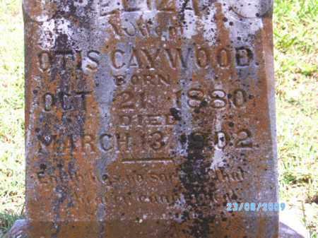 CAYWOOD, ELIZA - Cherokee County, Oklahoma   ELIZA CAYWOOD - Oklahoma Gravestone Photos