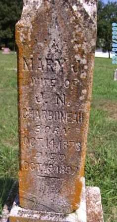 CHARBONEAU, MARY J - Cherokee County, Oklahoma   MARY J CHARBONEAU - Oklahoma Gravestone Photos
