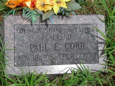 COBB, PAUL E - Cherokee County, Oklahoma   PAUL E COBB - Oklahoma Gravestone Photos
