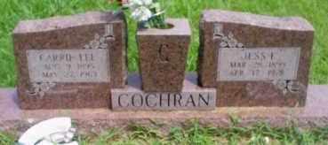 COCHRAN, JESS E - Cherokee County, Oklahoma | JESS E COCHRAN - Oklahoma Gravestone Photos