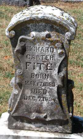 FITE, RICHARD CARTER - Cherokee County, Oklahoma | RICHARD CARTER FITE - Oklahoma Gravestone Photos