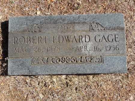 GAGE, ROBERT E - Cherokee County, Oklahoma | ROBERT E GAGE - Oklahoma Gravestone Photos