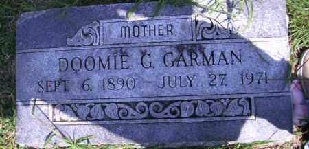 GARMAN, DOOMIE G - Cherokee County, Oklahoma | DOOMIE G GARMAN - Oklahoma Gravestone Photos